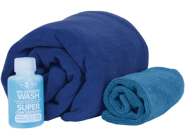Sea to Summit Tek Towel Wash Kit M Cobalt Blue